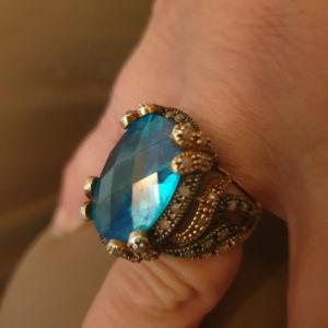 Δαχτυλίδι άσημοχρυσο με αληθινά διαμαντάκια 160 ευρώ ( ΟΧΙ ΠΑΖΆΡΙΑ)