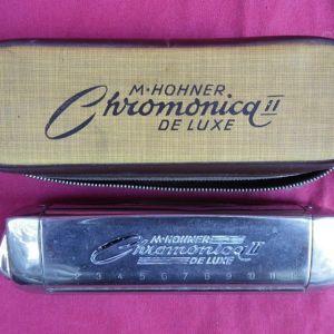 Φυσαρμόνικα M. HORNER Chromonica II DE LUXE αρχών της δεκαετίας του '50.