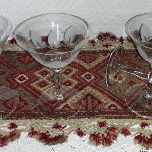 Ποτήρια σαμπάνιας παλιά κρυστάλλινα  ( 2 )
