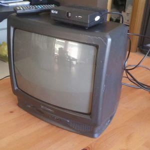 """Τηλεόραση conti 14"""" με αποκωδικοποιητης F&U"""