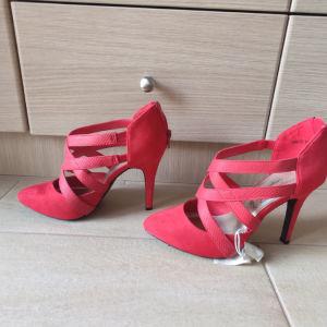 Παπούτσι-Πέδιλο κόκκινο, με τακούνι
