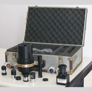 Celestron C90 - 1000mm.  Μεγάλος τηλεφακός ή τηλεσκόπιο για επίγειες ή \ και αστρονομικές παρατηρήσεις με 4 προσοφθάλμια,  4 φίλτρα, ερευνητή 5Χ24mm και αντάπτορα για μηχανή NIKON όλα σε βαλίτσα