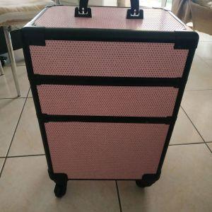 Βαλιτσακι μακιγιάζ ροζ με γκλιτερ