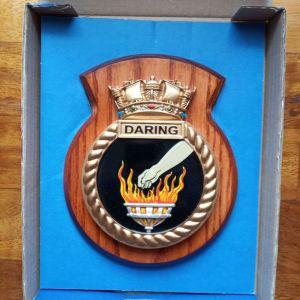 Πλακέτα του Βρετανικου πολεμικου πλοιου HMS DARING