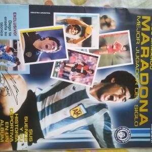 Maradona album άλμπουμ ακολλητο σετ συμπληρωμένο
