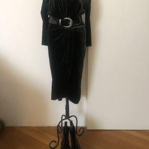Χακί Βελούδινο Φόρεμα - Zara Velvet Dress