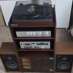 Πωλείται Vintage Ηχοσύστημα με Πικάπ Lenco | Ενισχυτή και Ηχεία Pioneer |Izumi Cassette Stereo Deck