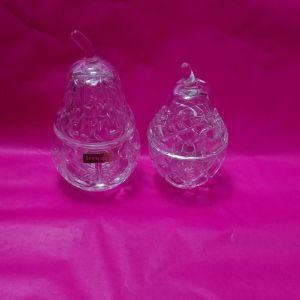 Κουτακια/ δοχεία/ μπιζουτιερες σε σχήμα αχλαδιού Irena lead crystal hand made Poland