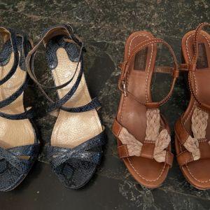 Όλα μαζί 10 ευρώ. 2 Δερμάτινα Παπούτσια Νο 40.