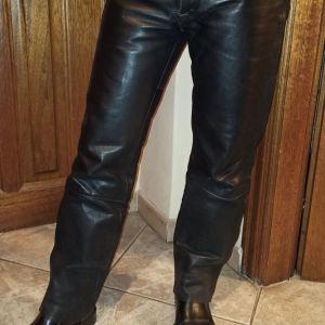 Αντρικό δερμάτινο παντελόνι