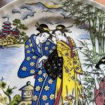 2 Vintage Διακοσμητικά Πιάτα με Γκέισες, China Style