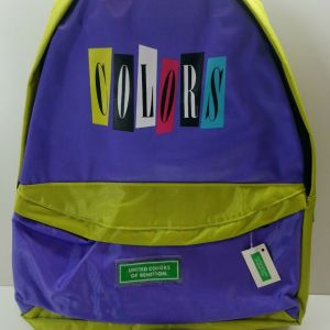 VINTAGE 90's UNITED COLORS OF BENETTON SCHOOL BAG BACKPACK COLORS NEW