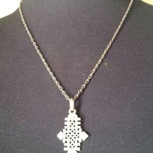 Ασημένιο μενταγιόν σταυρός από Αιθιοπία