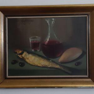 Αυθεντικός Πίνακας Χ. Χριστοδούλου «Νεκρά Φύση»