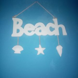 κρεμαστό τοίχου BEACH λευκό