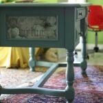 Γραφείο από μασίφ ξύλο - Χειροποίητη διακόσμηση