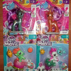 Μικρό μου Πόνυ 4x φιγούρες-κούκλες ΣΦΡΑΓΙΣΜΕΝΑ My Little Pony Friendship is magic: Pretzel, Sapphire Joy, Sea Poppy, Flutter Cloud