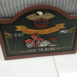 Διακοσμητικό κάδρο Harley Davidson
