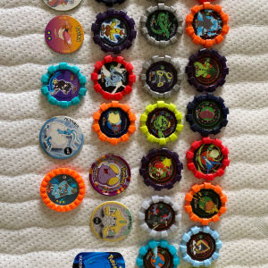 19 Πλαστικές Τάπες pokemon 2007 + 8 άλλες