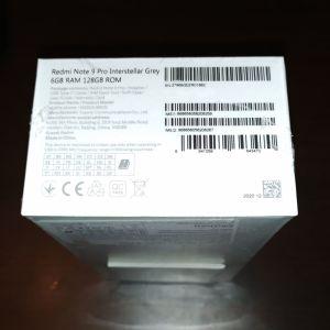 Xiaomi redmi note 9 pro 128gb/6gb ram interstellar grey - 200 euros  Θεσσαλονικη