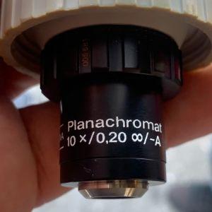 Carl Zeiss Jena Planachromat Ph 10X /0,20 Objective Microscope φακός μικροσκοπικού με θήκη