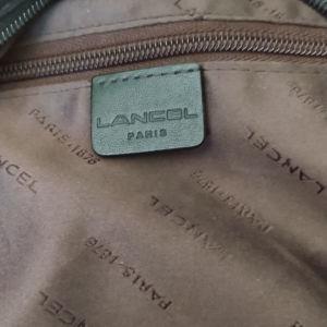 Vintage Lancel δερμάτινη μαυρη τσάντα.