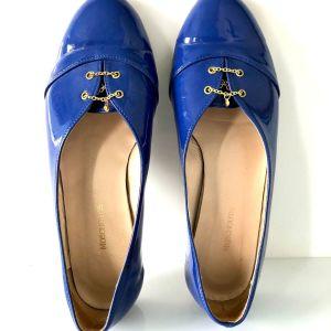 Παπούτσια Moschoutis, loafers, χρώμα μπλε, 36