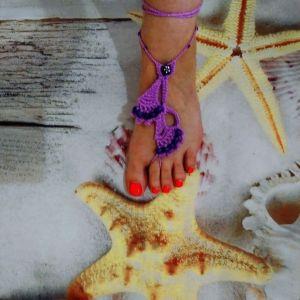 Κοσμήματα *Barefoot* για τα πόδια χρωμα πασχαλι. Καινουργια.