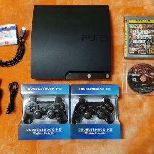 Sony playstation 3 ( PS3 ) Slim 250 GB + 2 Παιννιδια + 2 Χειριστηρια
