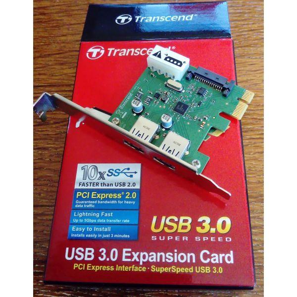 TRANSCEND USB 3.0 EXPANSION CARD PDU3