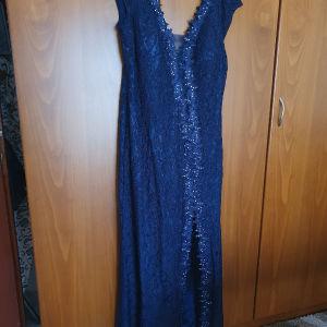 Σκούρο μπλε maxi φόρεμα από καλο μαγαζί της Θεσσαλονικης