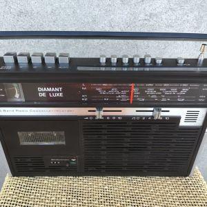 Vintage retro ραδιοκασετόφωνο.