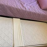 Μόνο κρεβάτι Neoset με στρώμα με συρόμενο κρεβάτ με στρώμα.
