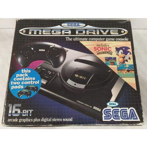 Sega Mega Drive sto kouti tou, komple, aristi katastasi, gia sillekti