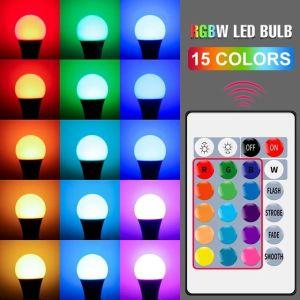 E27 Smart Control Lamp Led RGB Light Dimmable 5W 10W 15W RGBW Led Lamp Colorful Changing Bulb Led+++ΔΩΡΕΑΝ ΜΕΤΑΦΟΡΙΚΆ