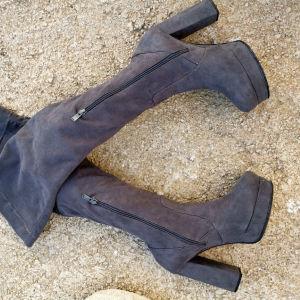 Μπότες σκούρο γκρι