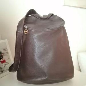 Δερμάτινη τσάντα πλάτης LONGCHAMP καφέ αυθεντική