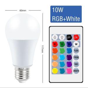 E27 Smart Control Lamp Led RGB Light Dimmable 10W RGBW Led Lamp Colorful Changing Bulb Led Lampada RGBW White Decor Home. ++++ΔΩΡΕΑΝ ΜΕΤΑΦΟΡΙΚΆ
