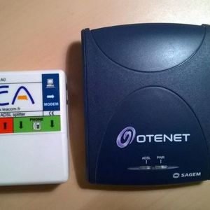 ISDN USB modem and splitter
