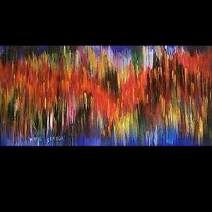 ΠΕΤΑΓΜΑ, 60cmX20cm, ακρυλικά χρώματα σε καμβά. Τελαρωμένο.