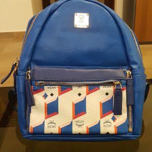 Τσάντα backpack mcm μπλε