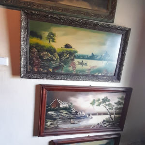 4  συλλεκτική γνήσιοι μεγάλη   πίνακες εποχής 1940 60