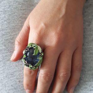 Δαχτυλίδια με χειροποίητη πέτρα απο γυαλί