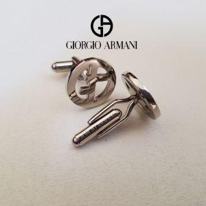GIORGIO ARMANI μανικετόκουμπα GA Monogram Elegant Limited γνήσια