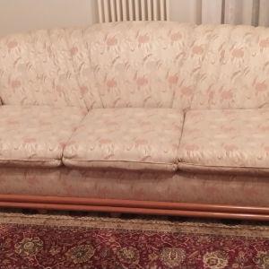 τριθέσιος καναπές και πολυθρόνα