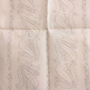 Κέντημα σεμέν με δύο πετσετάκια σε καμβά