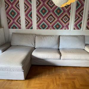 Καναπές 4 Θέσεων με σεζλονγκ και υποπόδιο KIVIK IKEA