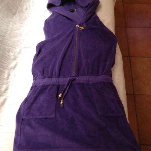 Φόρεμα πετσετέ μοβ
