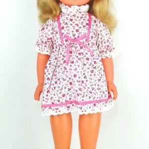 Vintage πανύψηλη κούκλα Ανατ. Γερμανίας DDR, δεκαετίας 1970, με φωνούλα