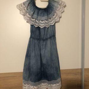 φόρεμα τζιν εφηβικό μικρού μεγέθους